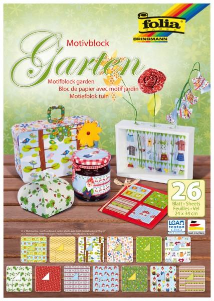 Motivblock Garten