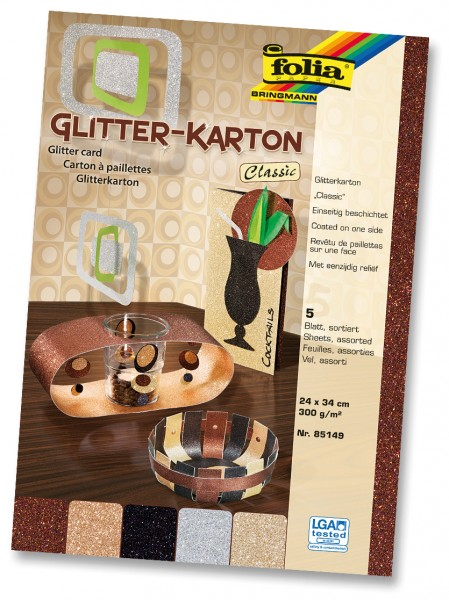 Glitterkarton 300 g/m², Classic,