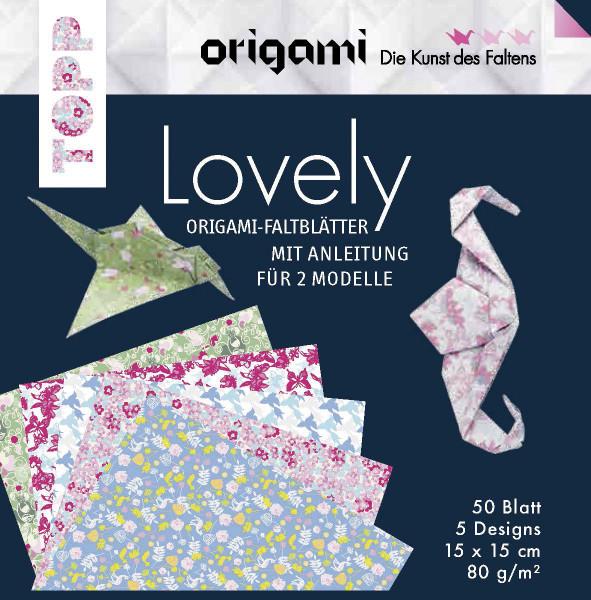 Faltblätter Origami SPRINGTIME 15x15cm 80g//m²  50 Blatt in 10 Farben