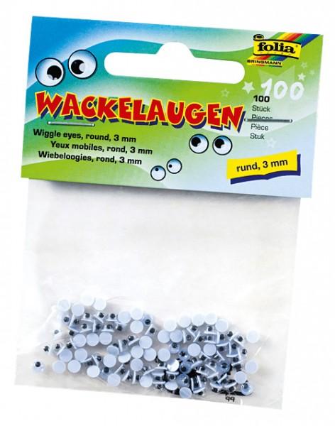 Wackelaugen 3 mm 100 Stück