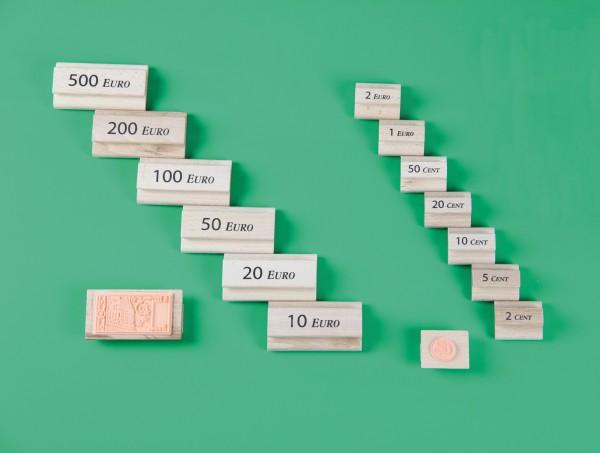 Euro-Geldstempel 15 Stempel