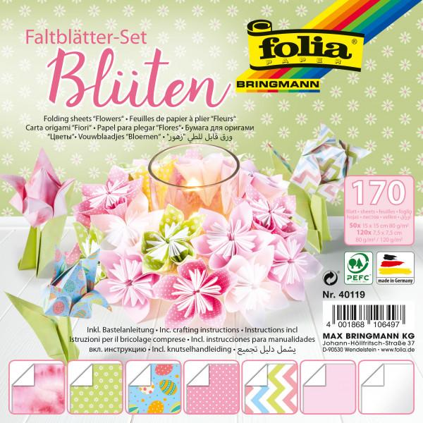 Faltblätter 80g/m², Blüten 170 Bl.,