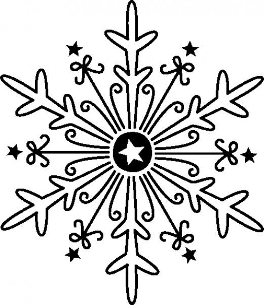 """Motivstempel """"Schneeflocke groß"""""""