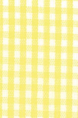 Karoband  gelb/weiß   10m x 10mm