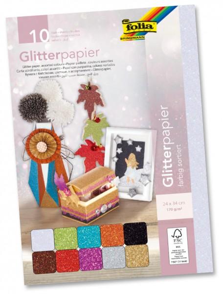 Glitterpapier 24x34cm