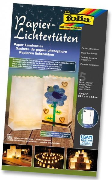 Lichtertüten aus Papier, Blanko