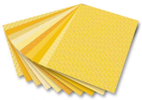 Motivkarton Basics gelb