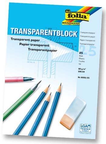 Transparentpapier DIN A4, weiß,