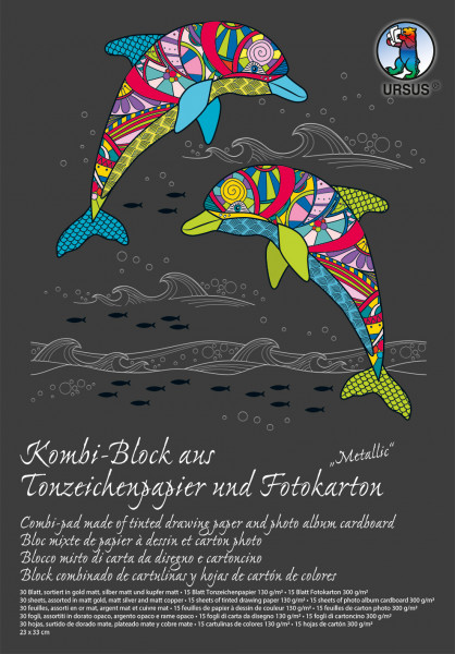 Kombi-Block,Metallic,23x33cm,30 Bl.