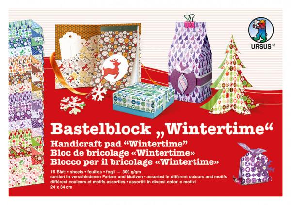 "Bastelblock ""Wintertime"" 300g/m²"