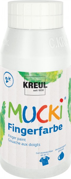 Fingerfarbe Mucki weiß 750ml