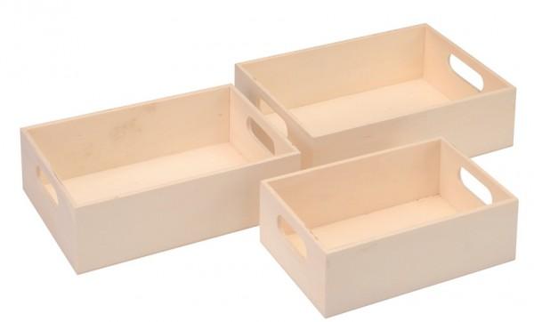Mini-Tablettset 3-tlg. aus Holz