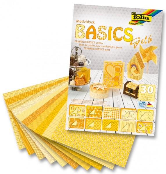 Motivblock Basics 24x34 cm  gelb