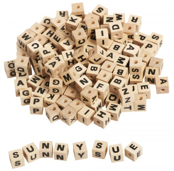 Buchstabenwürfel 0,7x0,7cm