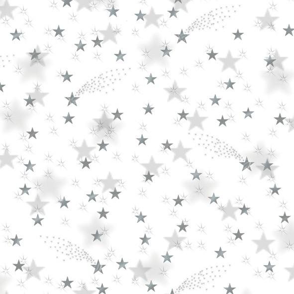 Transparentpapier Sterne silber