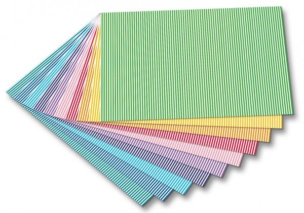 Streifen-Fotokarton 10 Bogen