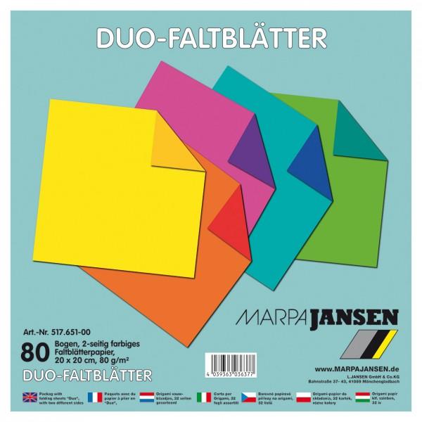 Faltblätter Duo-Color 5-farbig