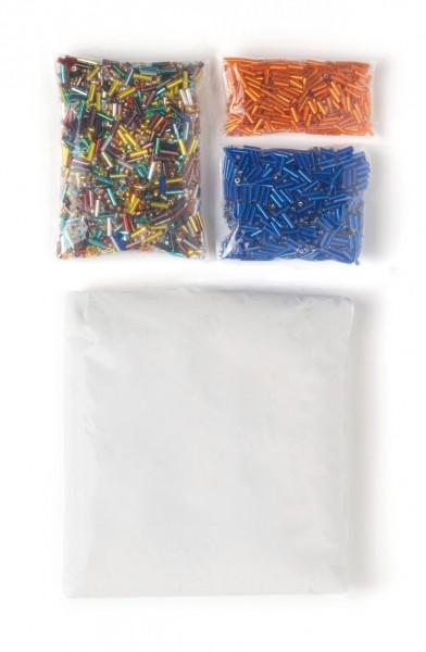 Perlen-Mix bunt,orange,blau 220