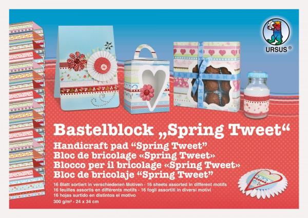 "Bastelblock ""Spring Tweet"" 24x34cm"
